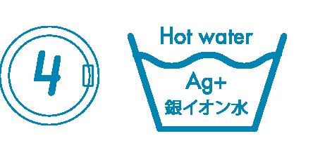 Ag+銀イオン水で抗菌洗浄