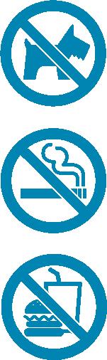 ペット・たばこ・飲食禁止